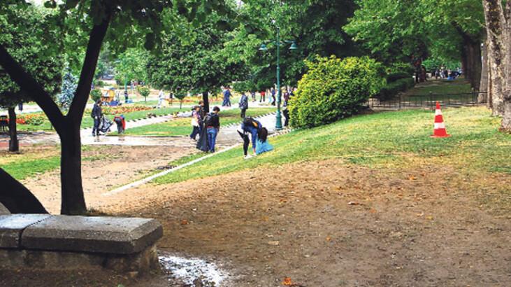 Gezi Parkın'da temizlik