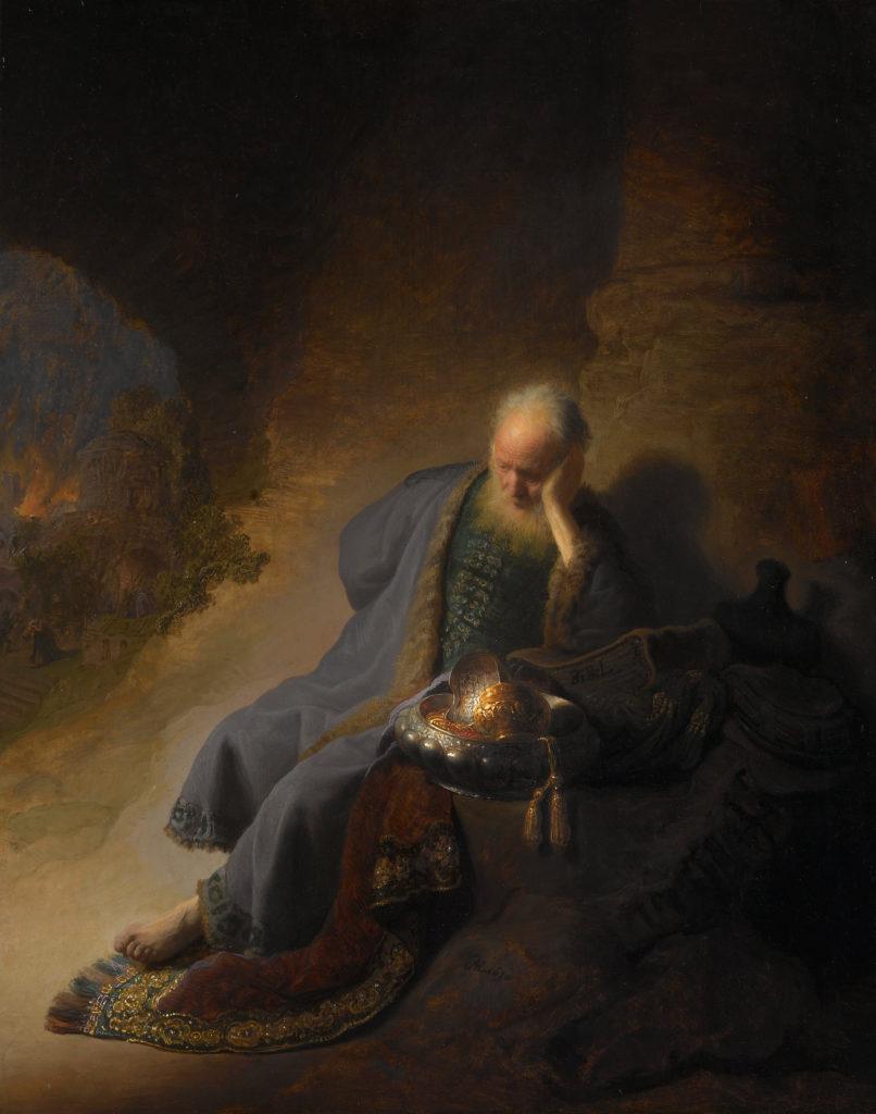 Rembrandt. 1630. Jeremiah Lamenting the Destruction of  Jerusalem