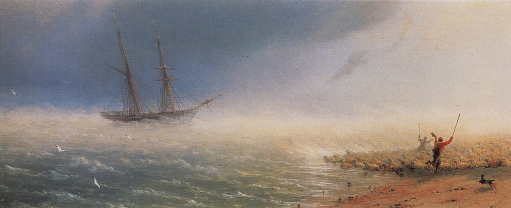 Ivan Aivazovsky, Sheep which forced by storm to the sea